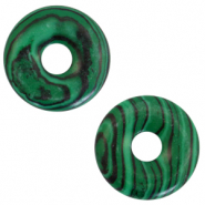Anhänger Naturstein Disc Green-black