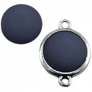 Polaris Cabochon matt 12mm denim blue