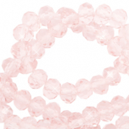 Facetten Top Glas Perlen 4x3mm Rondellen Crystal blush rose-pearl shine coating