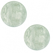 12 mm flach Polaris Elements Cabochon Lively Iceberg green