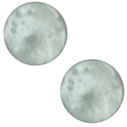 7 mm flach Polaris Elements Mosso shiny Cabochon Iceberg green
