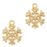 Anhänger Metall Basic Quality Snowflake Gold