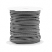 Gestepptes Band elastisch Dark grey