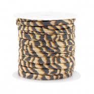 Gestepptes Band elastisch Tiger Beige-brown