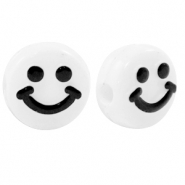 Acryl Buchstaben Smiley White-black
