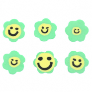 Perlen Polymer Blume Smiley Green