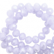 Facetten Top Glas Perlen 8x6 mm Rondellen Soft lavender blue-pearl shine coating