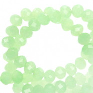 Facetten Top Glas Perlen 4x3 mm Rondellen Crysolite green-pearl shine coating
