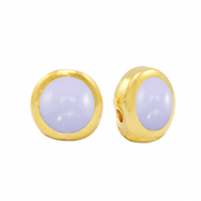 Perle Metall DQ Pearl lilac purple-gold (Nickelfrei)