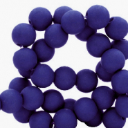 6 mm Perlen aus Acryl matt Dark blue