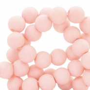 6 mm Perlen aus Acryl matt Misty pink