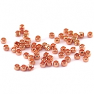 DQ Quetsch Perle 2mm rosegold plated