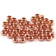 DQ Quetsch Perle 3mm rosegold plated