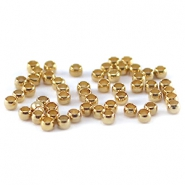 DQ Quetsch Perle 2mm gold plated