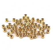 DQ Quetsch Perle 3mm gold plated