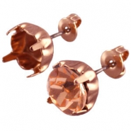 Design Quality Ohrstecker für Preciosa Kegel SS39 rose gold beschichtet