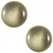 Polaris Cabochon 12 mm centroperla capulet olive green