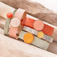 Inspirationsets Cuoio Armbänder mit Polaris Elements Cabochons machen?