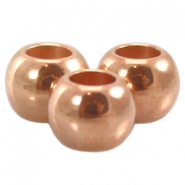 DQ Metall Ball 4x5mm rosegold (nickelfrei)