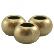 DQ Metall Ball 6x4mm antik bronze (nickelfrei)
