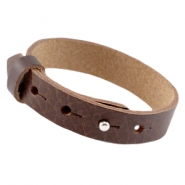 Leder Armband Cuoio large-size 15mm für 20mm Cabochon Fudge brown