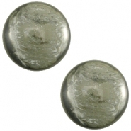 Polaris Cabochon 12mm Jais agave green