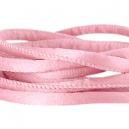 DQ Seiden Band gesteppt 6x4mm Antique pink
