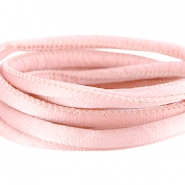 DQ Seiden Band gesteppt 6x4mm Sunkiss coral