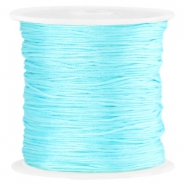 Satin Macramé Satinband 0.8 mm Aquarmarine blue