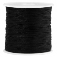 Satin Macramé Satinband 0.8 mm Black
