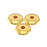 Metall DQ Perlen disc 4x1.5 mm Gold (nickelfrei)