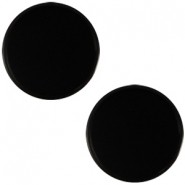 Polaris Cabochon flach 12mm Mosso shiny Black