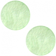 Polaris Cabochon flach 12mm Mosso shiny Pastel green