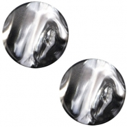 Polaris cabochon Perseo flach 12mm Black silver