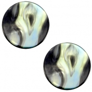 Polaris cabochon Perseo flach 12mm Antracite blue