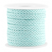 Wachskordel gewebt Light turquoise blue