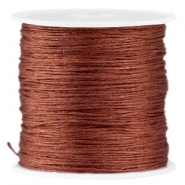 Satin Macramé Satinband 0.8 mm Brown