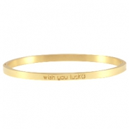Armband Slogan thin Gold