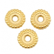 Metall DQ Ring disc 8mm deco Gold (nickelfrei)