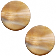 Cabochon Polaris Perseo flach 12mm matt Grey topaz