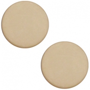 Cabochon Polaris flach 12mm matt Light taupe