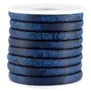 Trendy Kordel Barock 6x4mm gesteppt Midnight blue