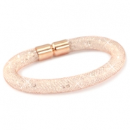 Kristall Facett Armbänder Rose gold - crystal