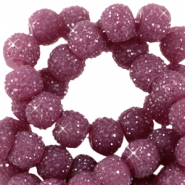 Sparkle beads 8mm Aubergine purple