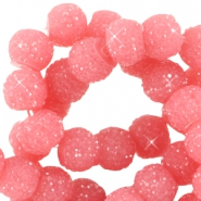 Sparkle beads 6mm Dark rouge pink