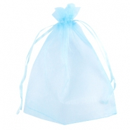 Organza Schmuck Beutel 13x18 cm Light blue