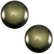 Polaris Cabochon sanft Töne shiny 12mm Army green