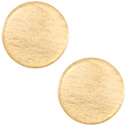 Polaris Cabochon sanft Töne shiny 12mm flach Golden yellow