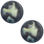 Polaris Cabochon Perseo matt 12 mm Antrazit blue