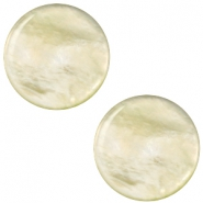Polaris Elements Cabochon 12 mm flach Perlmutt Tea green